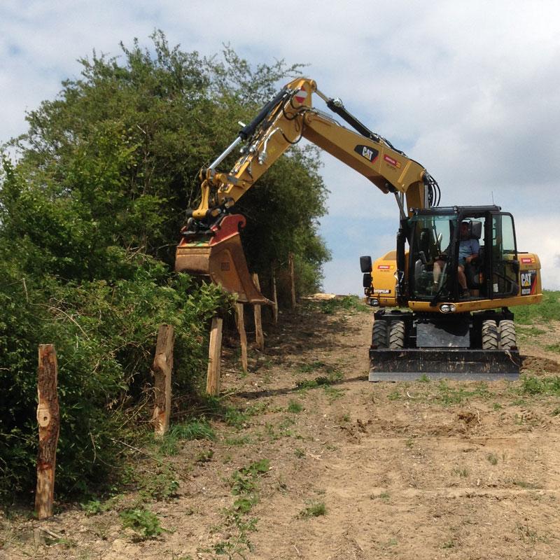 Bau Wildschutzzaun